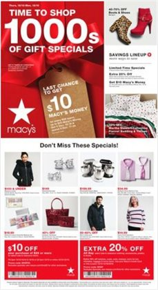 Department Stores deals in the Macy's weekly ad in Mansfield OH