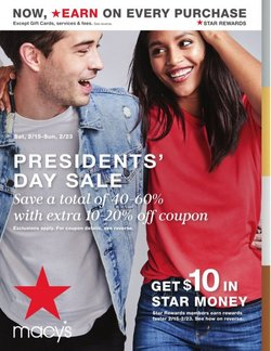 Department Stores offers in the Macy's catalogue in Torrance CA ( 3 days left )