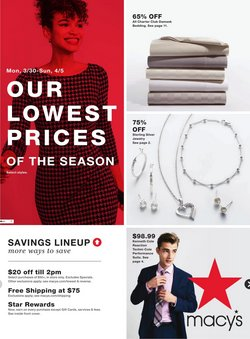 Department Stores offers in the Macy's catalogue in Charleston WV ( 2 days ago )