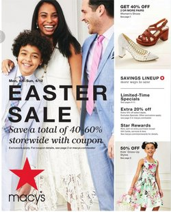 Department Stores offers in the Macy's catalogue in Memphis TN ( Published today )