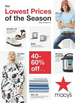 Department Stores offers in the Macy's catalogue in Warren OH ( Expires tomorrow )