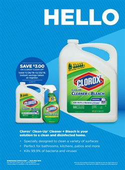 Clorox deals in the Costco weekly ad in Fontana CA