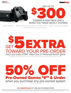 Nintendo deals in the Game Stop weekly ad in New York