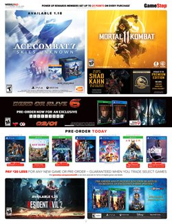Game Stop deals in the San Diego CA weekly ad