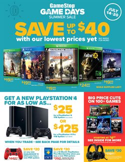 Electronics & Office Supplies deals in the Game Stop weekly ad in Modesto CA
