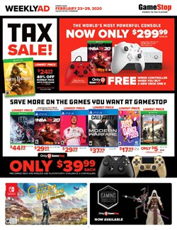 Game Stop catalogue ( 1 day ago )