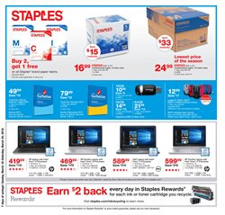 Laptop deals in the Staples weekly ad in Whittier CA
