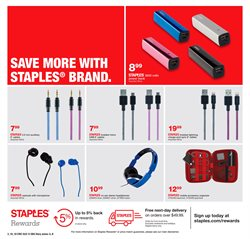 Headphones deals in the Staples weekly ad in New York