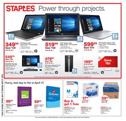 Electronics & Office Supplies deals in the Staples weekly ad in Yorba Linda CA