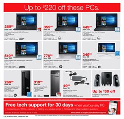 Acer deals in the Staples weekly ad in New York