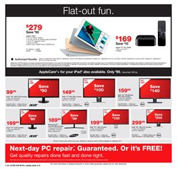 TV deals in the Staples weekly ad in New York