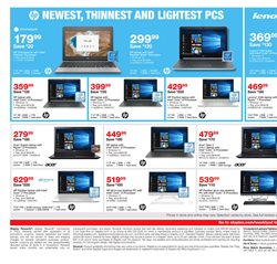 Laptop deals in the Staples weekly ad in New York