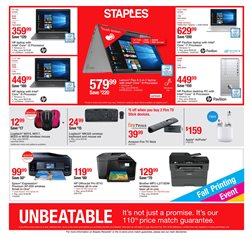 TV deals in the Staples weekly ad in Vacaville CA