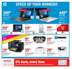 HP laptop deals in the Staples weekly ad in New York