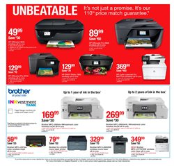 Printer deals in the Staples weekly ad in Santa Ana CA
