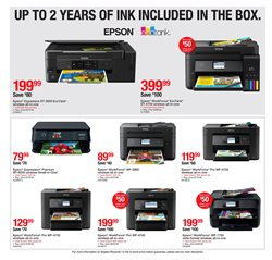 Epson deals in the Staples weekly ad in New York