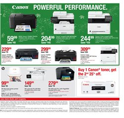 Canon deals in the Staples weekly ad in Lancaster PA