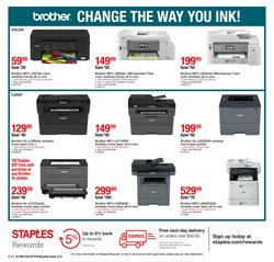 Printer deals in the Staples weekly ad in Newark OH