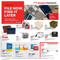 Electronics & Office Supplies offers in the Staples catalogue ( Expires tomorrow )