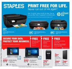 Staples deals in the Houston TX weekly ad