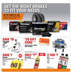 Brakes deals in the AutoZone weekly ad in Burbank CA