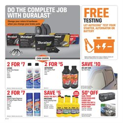 Brakes deals in the AutoZone weekly ad in New York