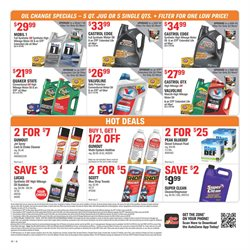 Oil change deals in the AutoZone weekly ad in New York
