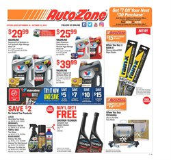 Automotive deals in the AutoZone weekly ad in Burbank CA