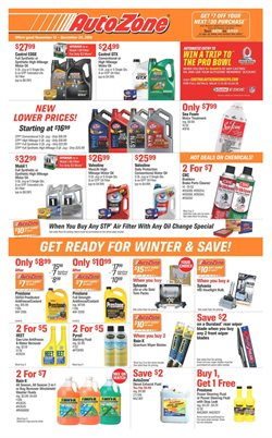 Oil change deals in the AutoZone weekly ad in Bayamon PR