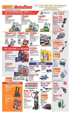 AutoZone deals in the Minneapolis MN weekly ad