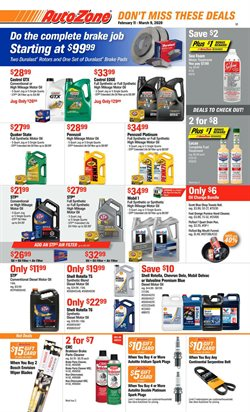 Automotive offers in the AutoZone catalogue in Scottsdale AZ ( 17 days left )