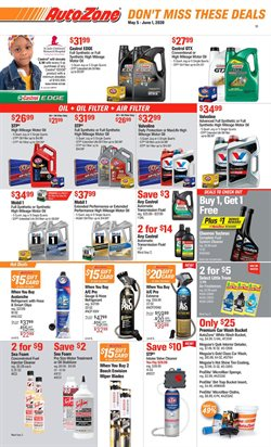 Automotive offers in the AutoZone catalogue in Sunnyvale CA ( Expires tomorrow )