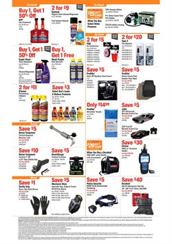 Craftsman deals in AutoZone