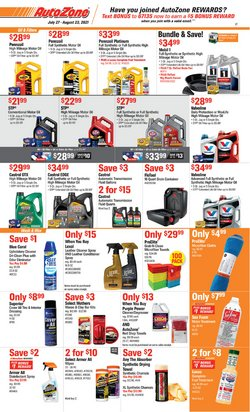 Automotive deals in the AutoZone catalog ( 19 days left)