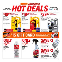 AutoZone deals in the Houston TX weekly ad