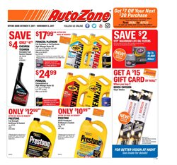 Automotive deals in the AutoZone weekly ad in New York