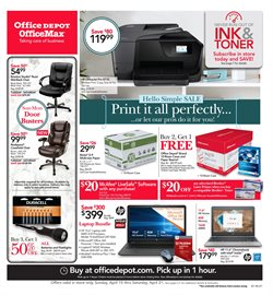 Electronics & Office Supplies deals in the Office Depot weekly ad in Yorba Linda CA