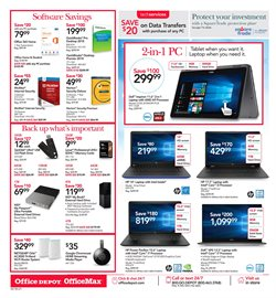 Tablet deals in the Office Depot weekly ad in New York