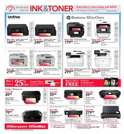 Printer deals in the Office Depot weekly ad in New York