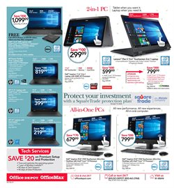 Laptop deals in the Office Depot weekly ad in Whittier CA