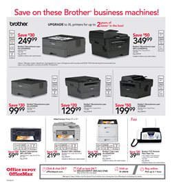 Brother deals in the Office Depot weekly ad in New York