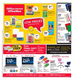 Office Depot deals in the Houston TX weekly ad