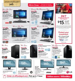 Monitor deals in the Office Depot weekly ad in New York