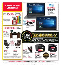 HP deals in the Office Depot weekly ad in New York