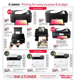 Canon deals in the Office Depot weekly ad in Kent WA