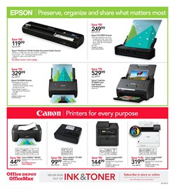 Canon deals in the Office Depot weekly ad in New York