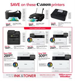 Canon deals in the Office Depot weekly ad in Bothell WA