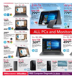 Acer deals in the Office Depot weekly ad in New York