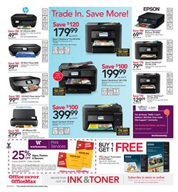 Printer deals in the Office Depot weekly ad in Grand Rapids MI