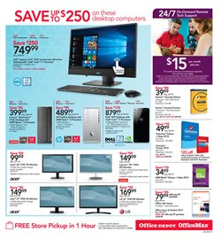 LG deals in the Office Depot weekly ad in New York
